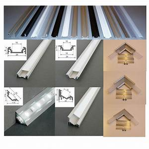 Led Profil Weiß : 2 m alu profil aluminium schiene f r led strip s alu led profil f r led leisten ebay ~ Buech-reservation.com Haus und Dekorationen