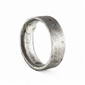 mens wedding band brushed silver personalized man ring With mens brushed wedding rings