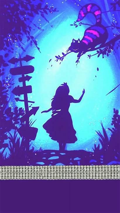 Teal Purple Backgrounds Bling Wallpapers Wonderland Alice