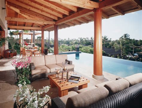 lanai tropical patio hawaii  saint dizier design