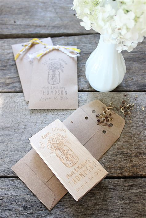 diy wedding favor flower seeds 4 diy wedding favors to make with rubber sts