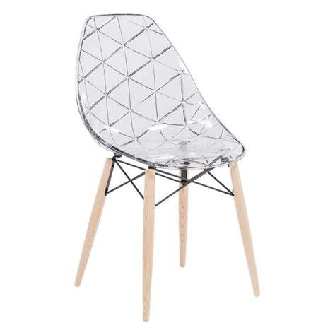 chaise transparente et bois chaise design coque transparente et bois prisma 4