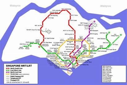 Singapore Map Mrt Metro Guide Tourism Destinations