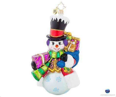 1017943 christopher radko top hat frosty christmas ornament