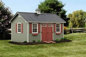 photo gallery of the lancaster style shed from overholt in With backyard buildings reviews