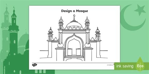 * New * Design A Mosque Worksheet  Eyfs Ramadan (15th May) And Eid (14th