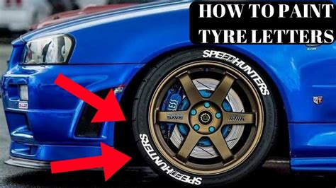 How To Paint Tyre Letters White!