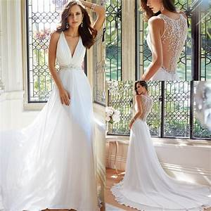 simple elegant 2015 women summer wedding dresses flowing With flowing wedding dresses