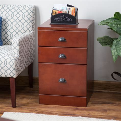Cherry Filing Cabinet by Belham Living Cambridge 3 Drawer Wood File Cabinet Rich