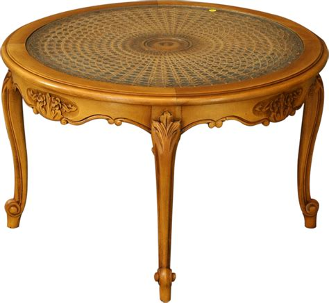 vintage round coffee table vintage round french country coffee table wicker glass