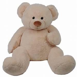 Peluche Elephant Geant : histoire d ours peluche ours coton cr me 100 cm ~ Teatrodelosmanantiales.com Idées de Décoration