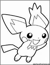 Pichu Pokemon Coloring Pages Pikachu Drawing Printable Fun Raichu Getcoloringpages sketch template