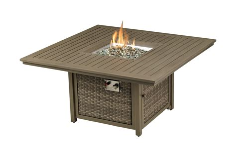 """Bronte outdoor aluminum square coffee table by christopher knight home. Paris 48"""" Square Fire Table PSSQFT48"""