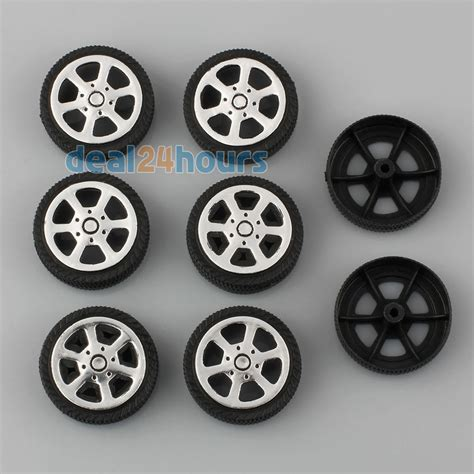 car toys wheels 8pcs plastic car tire toy wheels 30 9 1 9mm diy rc model