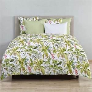 christian fischbacher bali linge de lit bleu avec fleurs With tapis champ de fleurs avec housse canapé lit