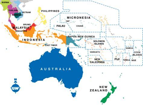australia indonesia map