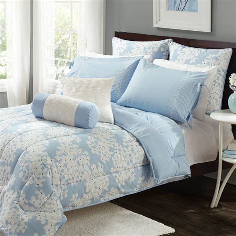 Bedding For by Olive 7 Pc Reversible Comforter Set Hydrangea
