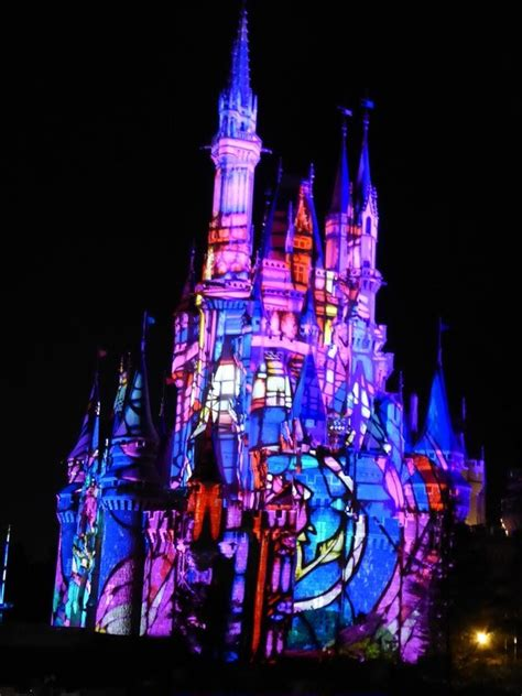 Disney Light Show by Tokyo Disneyland Light Show On Cindarella Castle 4 Photo