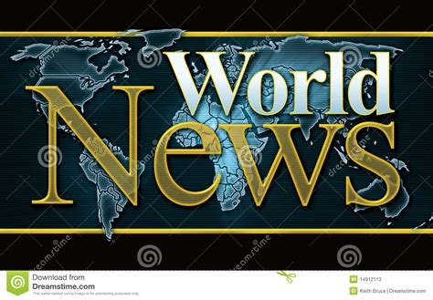 World News Graphic Stock Photos