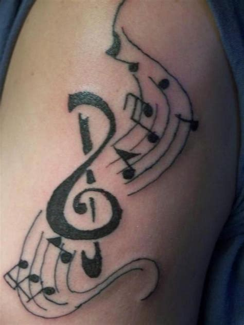 tattoo  girls note muzicale