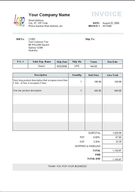 payment invoice template payment invoice template invoice sle template