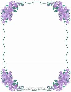Printable lilac border. Use the border in Microsoft Word ...