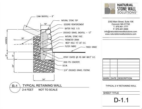 Retaining wall engineering and components