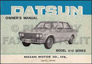 1968 Datsun 510 Owners Manual Original Oem Owner User