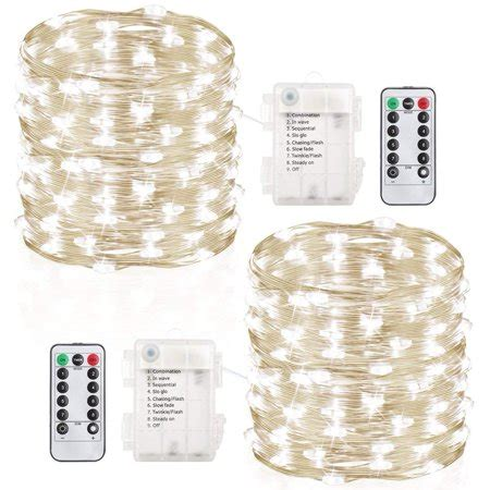 battery operated christmas lights with remote 2 pack 100 led string lights lights battery operated waterproof string lights with