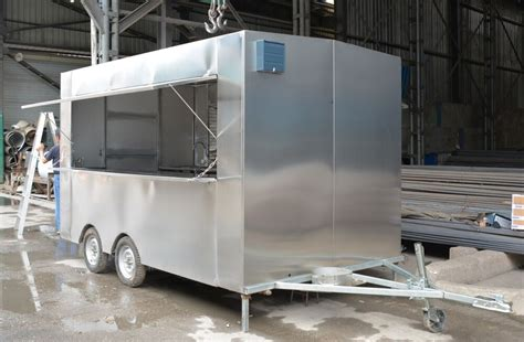 New! 3.5m Stainless Steel Concession Stand Trailer Mobile