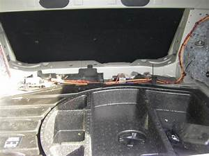 Speaker Wiring In Trunk