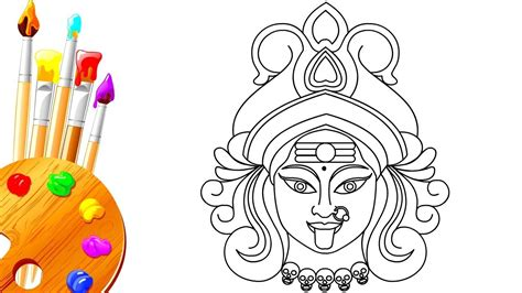 How To Draw Dussehra Navratri Hindu Goddess