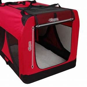 Extra large portable soft pet dog crate cage kennel red for Extra large portable dog kennel