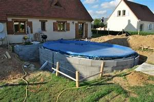 comment installer une piscine semi enterr e installation With installation piscine bois semi enterree