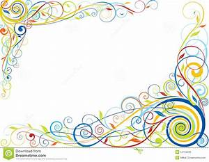 Swirl Floral Color Design Stock Vector - Image: 54734439