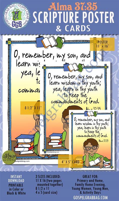 commandments choose   scripture poster alma