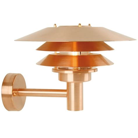 nordlux ven 248 outdoor wall light copper