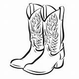 Cowboy Coloring Boot Pages Horse Clip sketch template
