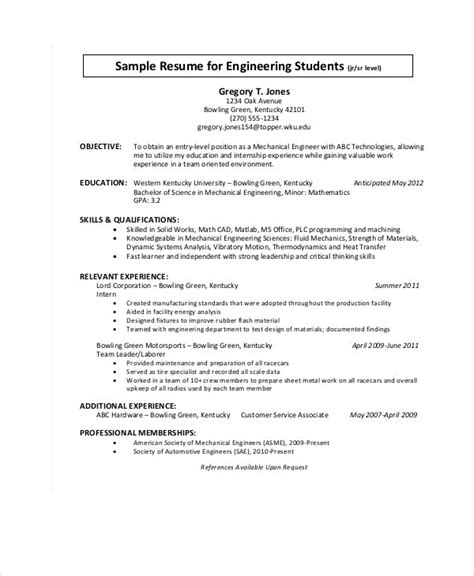 You may be plenty familiar with designing, building, and testing equipment as a mechanical engineer, you can expect to earn a median wage of $85,880 per year, or $41.29 per hour, according to the bls. 9+ Engineering Resume Templates - PDF, DOC | Free ...