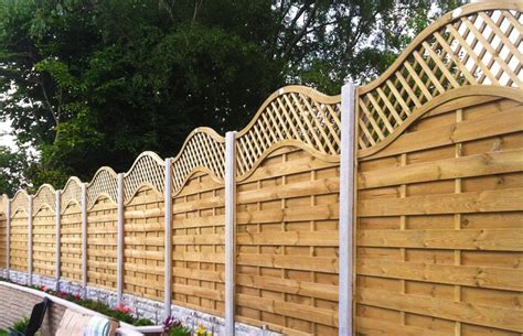 Lattice Garden Fence Panels by Omega Lattice Top Fence Panels Cocklestorm Fencing