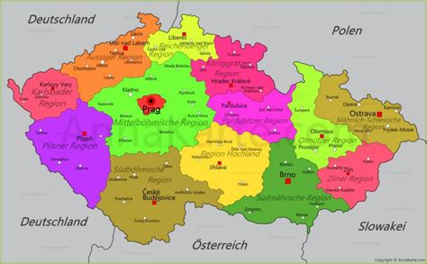 Tschechien Karte - AnnaKarte.com
