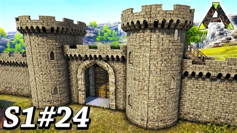 ark epic castle gate wall build ark survival evolved ragnarok gamepl ark survival