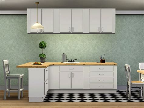 Mod The Sims  Simple Kitchen  Counters, Islands, Cabinets