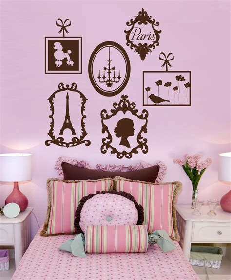 Paris Vinyl Wall Decals French Frame Collage Graphics