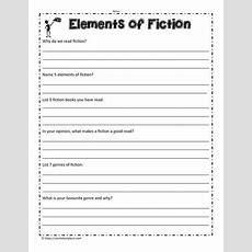 Elements Of Fiction Worksheet Worksheets