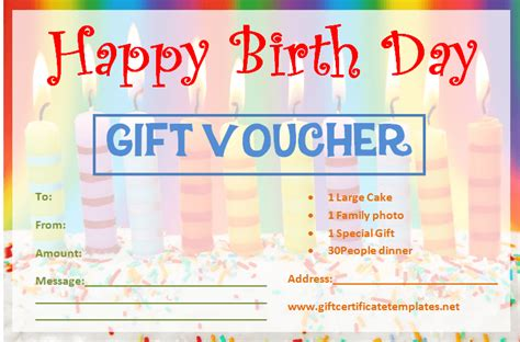 candle birthday gift certificate template gift certificates