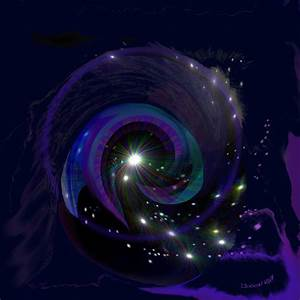 541 - Black Hole Painting by Irmgard Schoendorf Welch