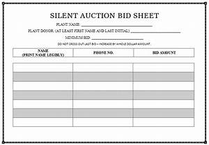 silent auction bid sheet templates in word printable With bid sheets for silent auction template