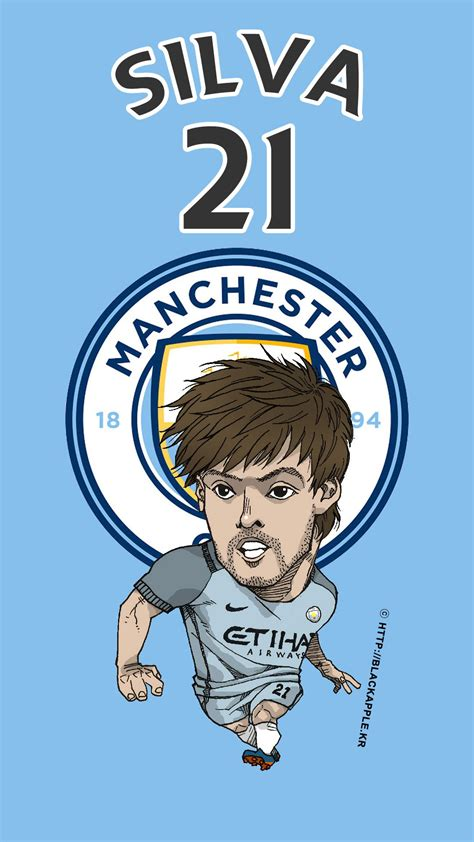 manchester city  david silva fan art football