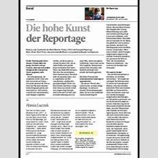 Die Hohe Kunst Der Reportage  Medium Magazin Medien